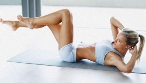Exercitiul 2 pentru abdomen plat fara colacei