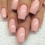 Roz nude pentru manichiura simpla
