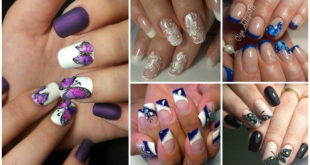 Modele de unghii cu fluturi