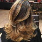 Ombre balayage blond auriu