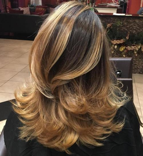 different highlight styles for dark hair ombre balayage blond auriu sfaturi si idei pentru gospodine 1159 | Ombre balayage blond auriu